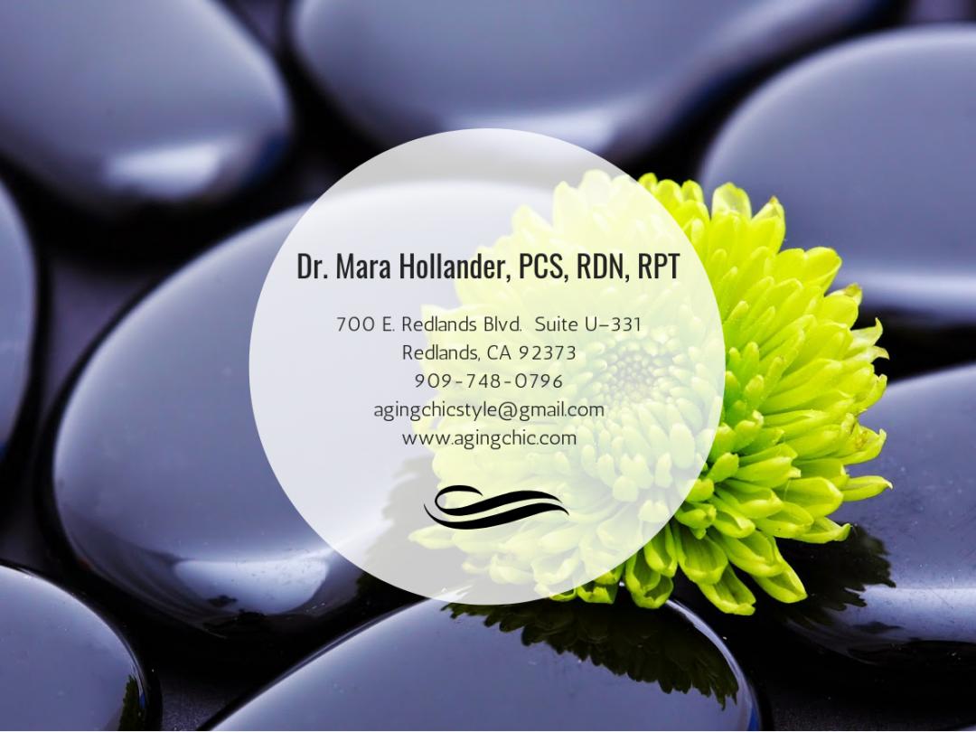 Dr. Mara Hollander, PCS, RDN, RPT