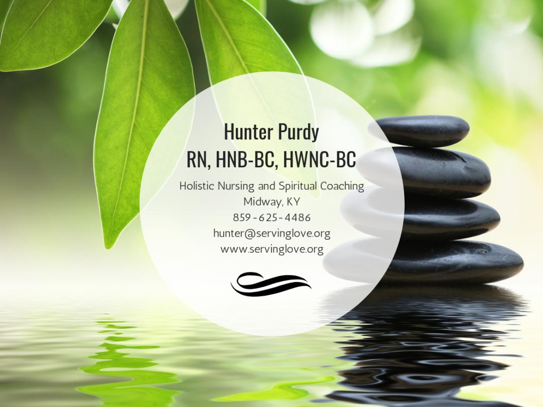 Hunter Purdy, RN, HNB-BC, HWNC-BC