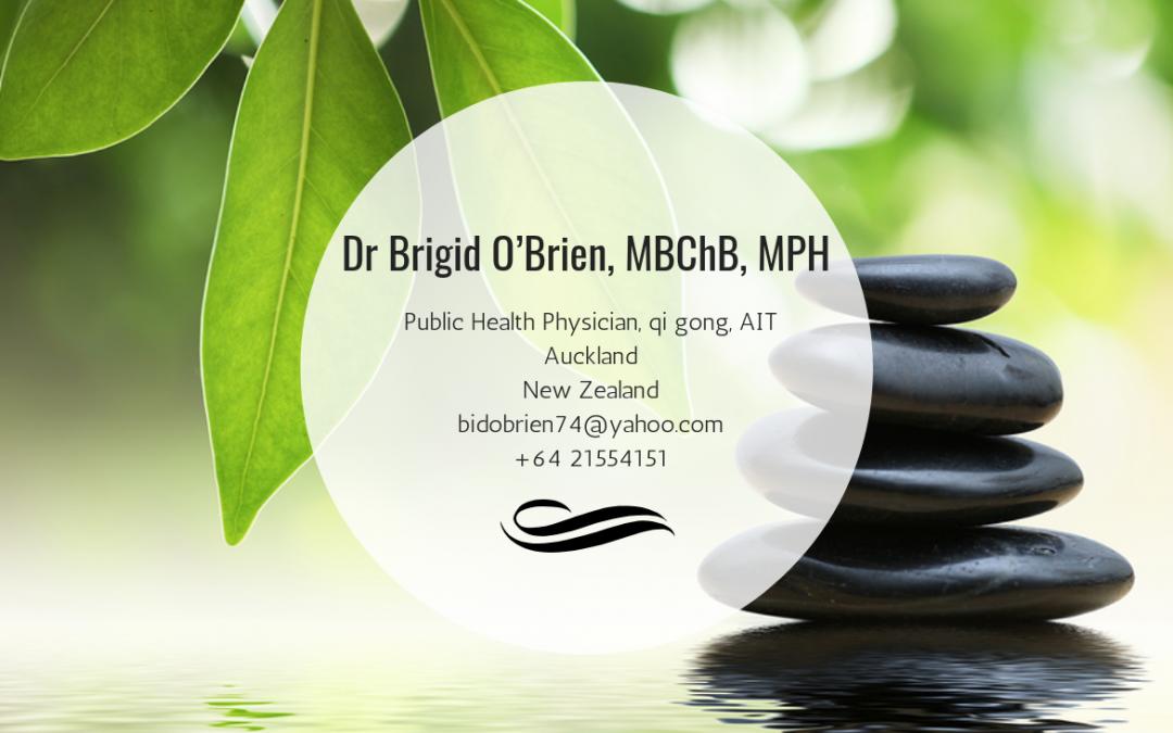 Dr. Brigid O'Brien, MBChB, MPH—Auckland, New Zealand